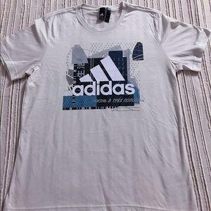 Silver Adidas multiword T shirt